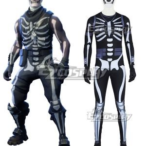 Fortnite Battle Royale Skull Trooper Cosplay Costume – Premium Edition
