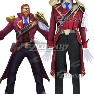 League of Legends LOL Battle Professor Graves Cosplay Costume