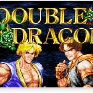 Double Dragon (Neo Geo Title Screen) Canvas Print