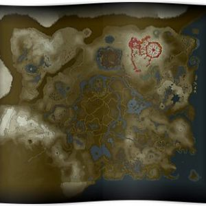 Zelda: Breath of the Wild map Poster
