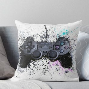 Playstation Gaming Controller Throw Pillow