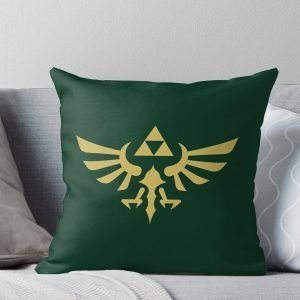 The Legend of Zelda Royal Crest (gold) Throw Pillow