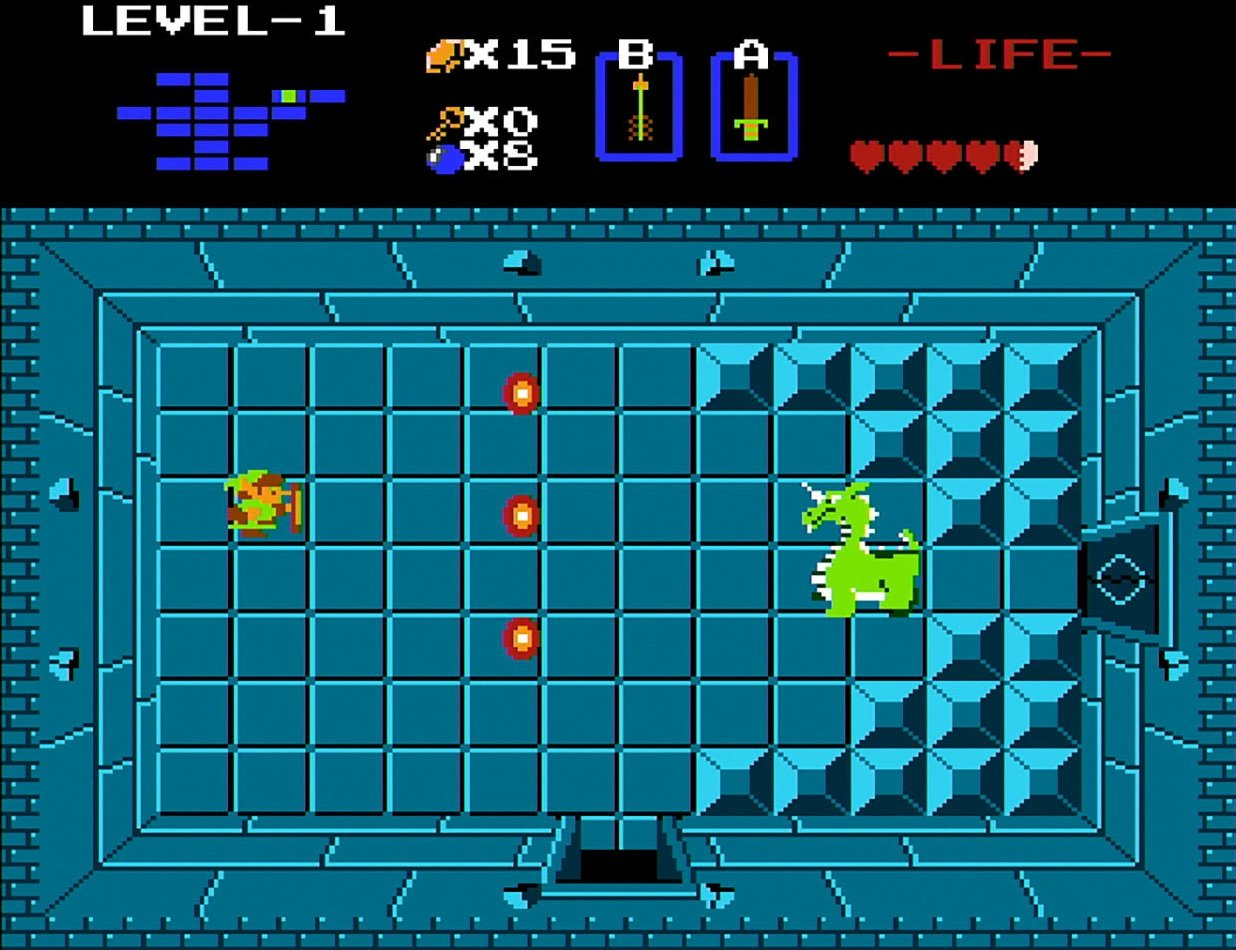 Legend of Zelda NES Aquamentus
